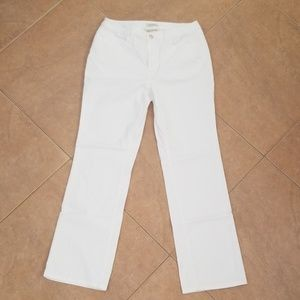 Jones New York Bootcut White Pants